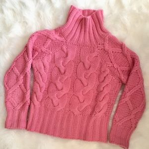 Design History Pure Cashmere pink sweater sz S